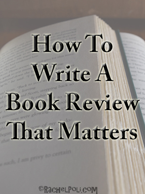 How To Write a Book Review that Matters
